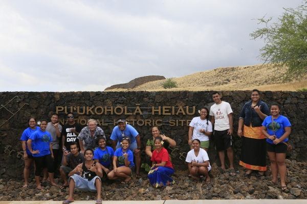Pacific Islander students from the University of Hawaii-Hilo shared their cultural traditions at today's event at Pu'ukohola Heiau National Historic Site (Dave Boyle/NPS)