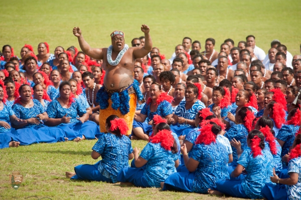 Samoan group sings traditional songs as part of local festivities