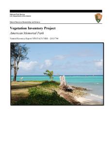 American Memorial Park Vegetation Map Report