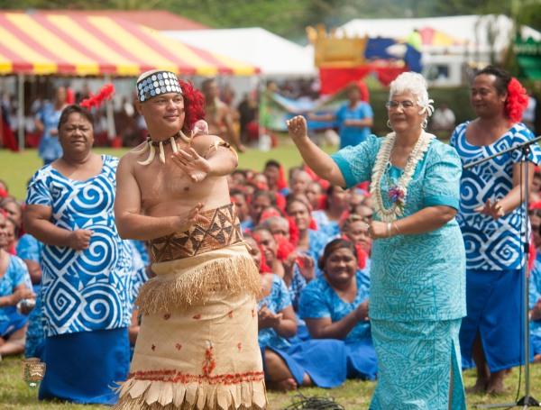 Traditional Samoan taualuga or ending performance.