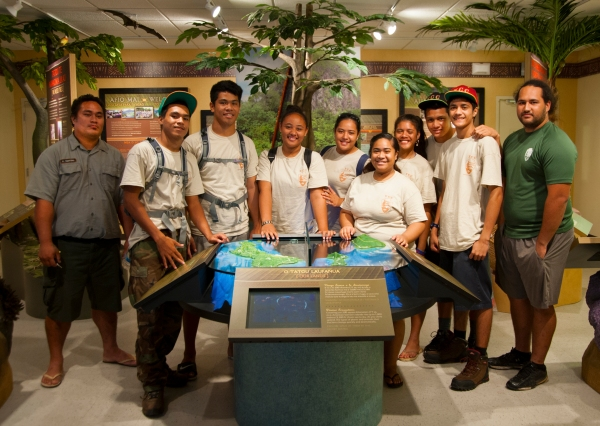 Youth Conservation Corps with their team leaders.