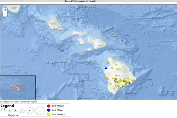 Recent earthquakes. (USGS)