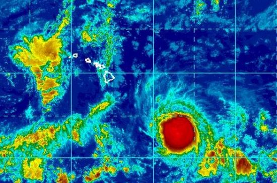 Satellite image of T.S. Ana at 11 a.m. Wednesday | Courtesy NOAA