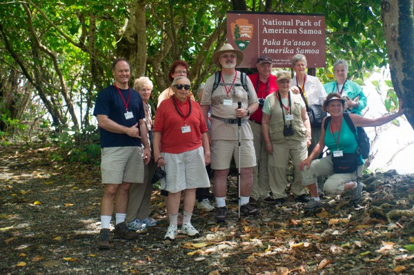 Friends from National Park Conservation Association at Pola Island Trailhead
