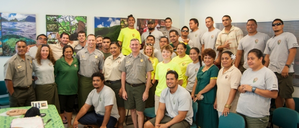National Park of American Samoa staff and crew.