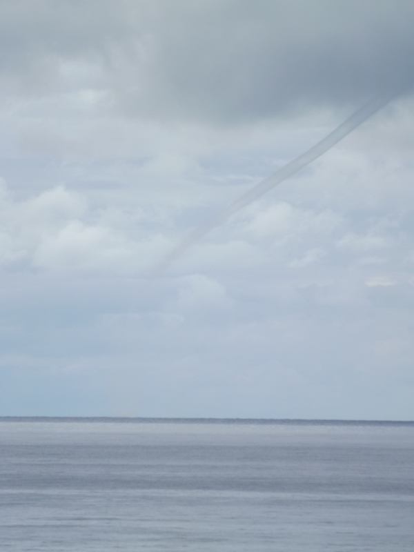 Waterspouts along the Kohala Coast of the Big Island of Hawaii this afternoon. (National Park Service)