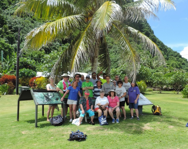 Some members of the National Park Travelers Club with Manu'a District Ranger Carlo Caruso and his crew.