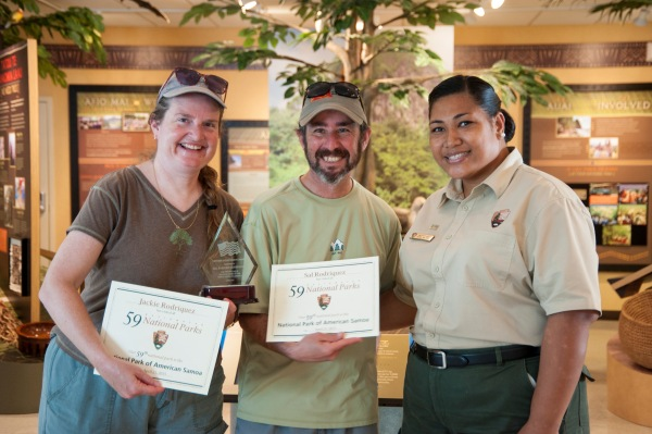 Jackie and Sal with Park ranger Pai.