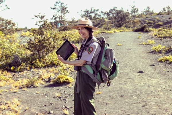 Scientist with iPad